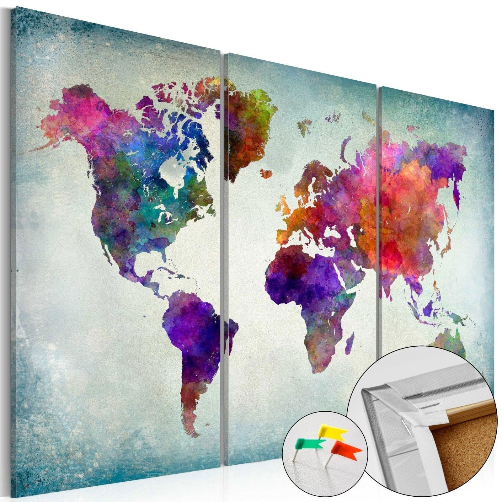 Tablero de corcho - World in Colors 1 | Potspintura.com