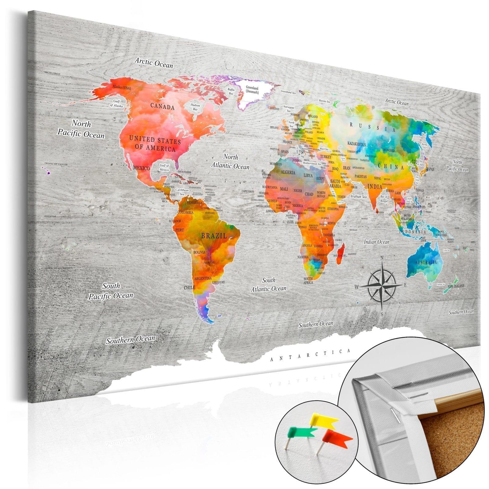Tablero de corcho - Multicolored Travels 1   Potspintura.com