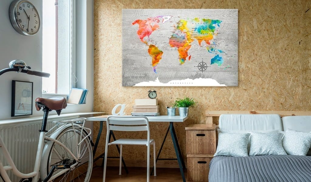 Tablero de corcho - Multicolored Travels 2   Potspintura.com