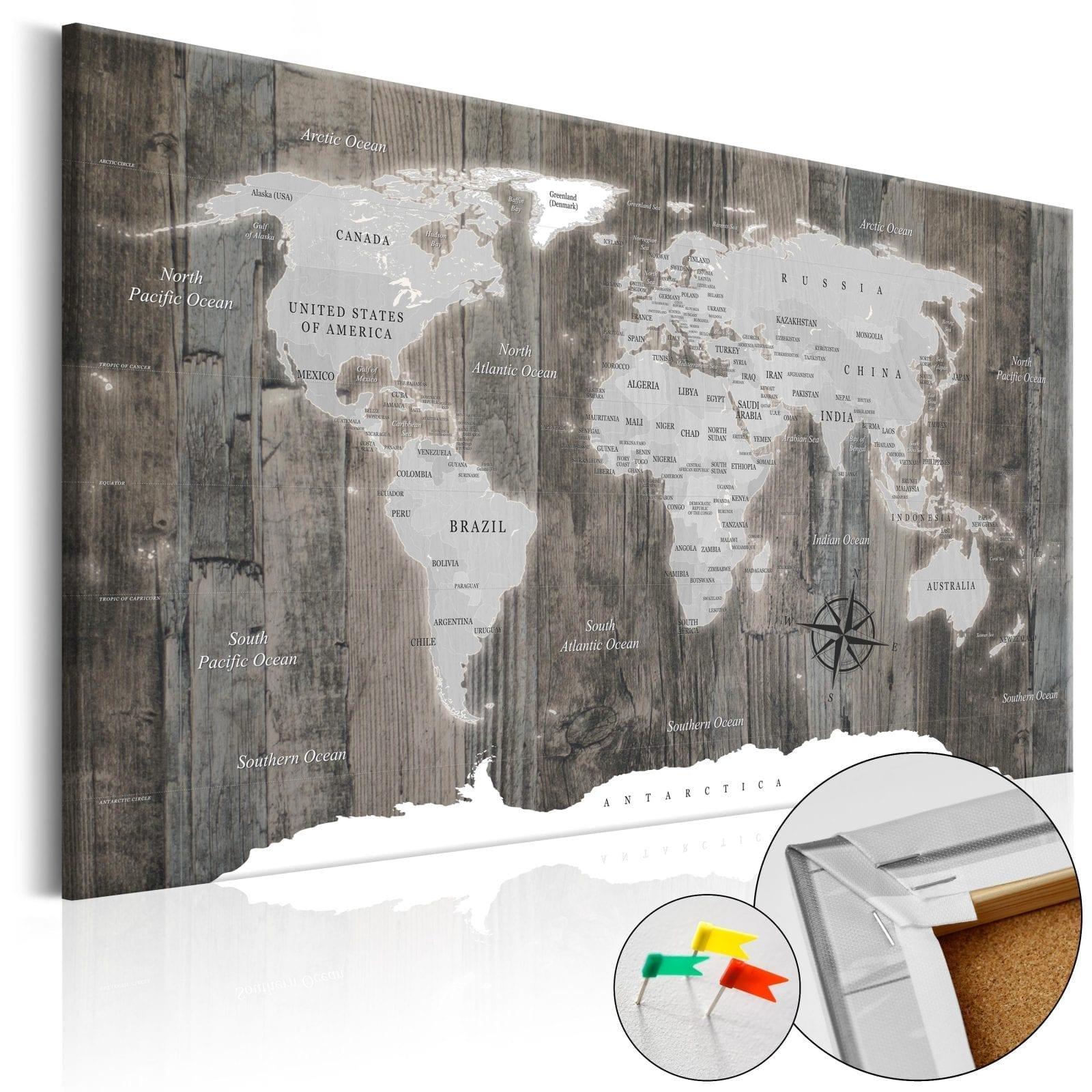 Tablero de corcho - World of Wood 1 | Potspintura.com
