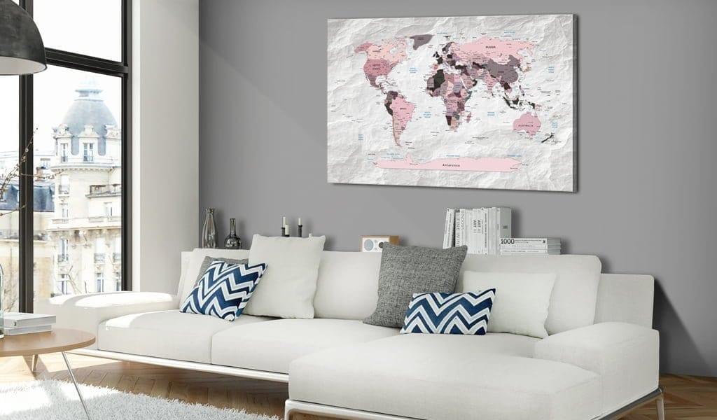 Tablero de corcho - Pink Continents 2 | Potspintura.com