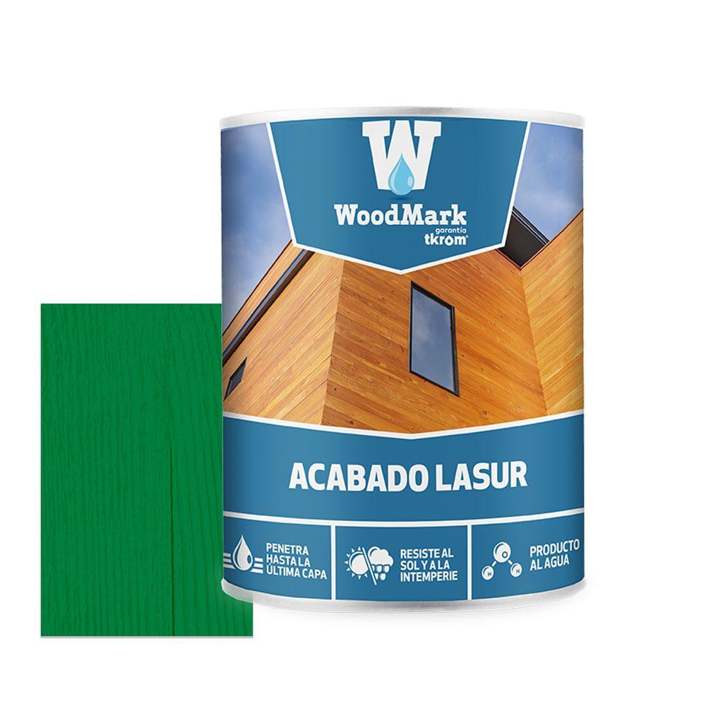 Lasur al agua color verde de acabado satinado Woodmark 1   Potspintura.com