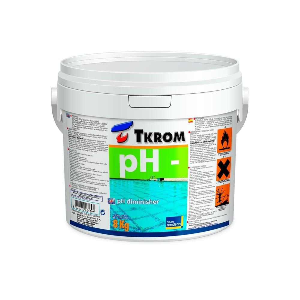 Regulador de PH- para piscinas 8Kg de Tkrom 1 | Potspintura.com