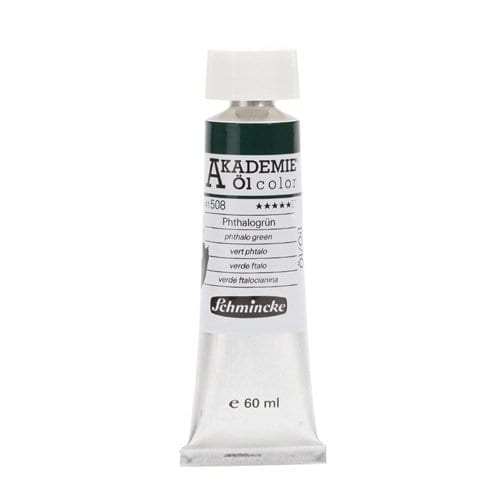 Pintura al óleo en tubo verde de ftalocianina Akademie ÖL color de Schmincke 1 | Potspintura.com